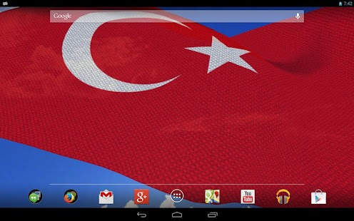 3d turkey flag live wallpaper apk