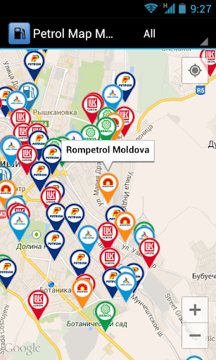Petrol Map Moldova