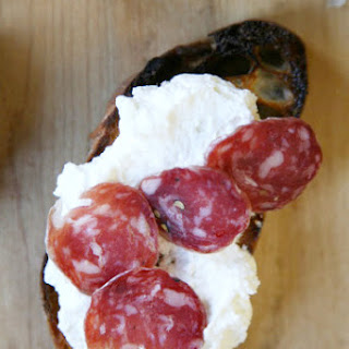 Ricotta Crostini with Soppressata