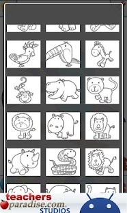 Jungle Animals Coloring Book - screenshot thumbnail