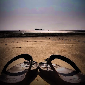 Crosby Beach by Lisa Stornes - Landscapes Beaches