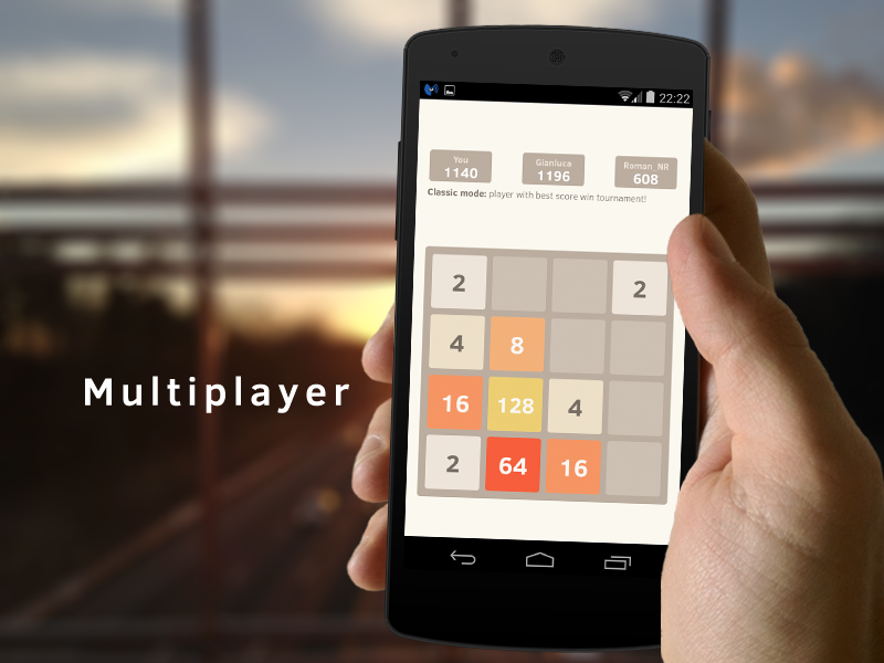 2048 Number puzzle game- screenshot
