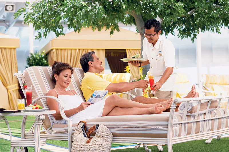 The Sanctuary aboard your Princess Cruises ship offers guests a relaxing outdoor spa-inspired retreat.