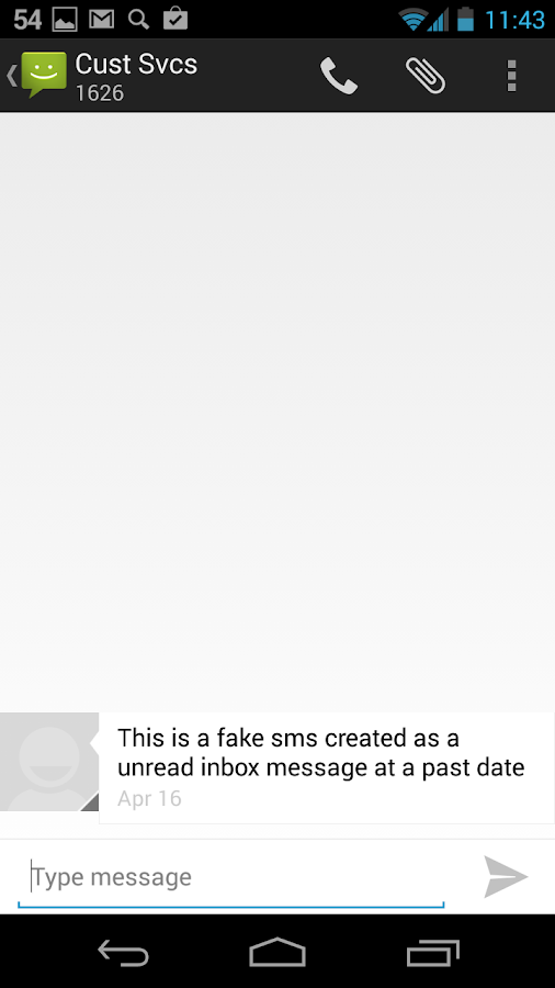 Fake SMS & Call Trial - screenshot