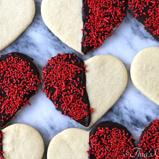 Black and White Heart Sugar Cookies