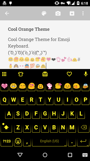 Neon Orange - Emoji Keyboard
