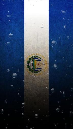 El Salvador flag water effect