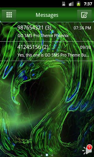 SMS ProのテーマフェニックスGO