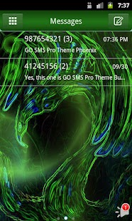 GO SMS Pro Theme Phoenix - screenshot thumbnail