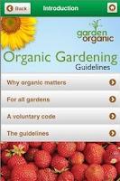 Screenshot of Organic Gardening Guidelines