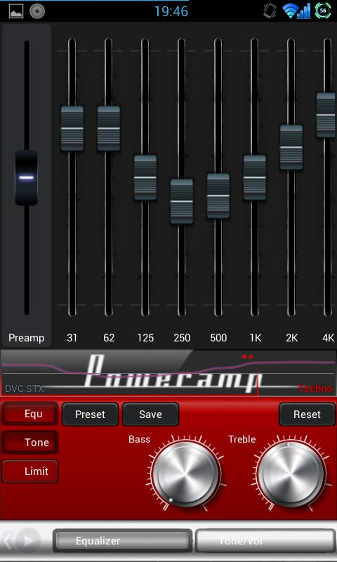 Mad Jelly Retro Poweramp skin - screenshot