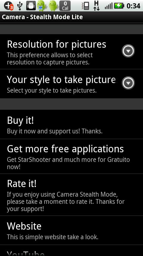 Camera Stealth Mode Lite - screenshot