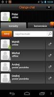 Screenshot of Orange chat