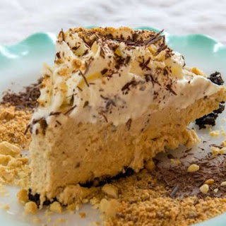 Ought to Be Illegal Butterfinger Pie (No Bake).