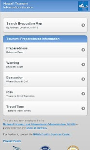 Hawaii Tsunami Info Service - screenshot thumbnail