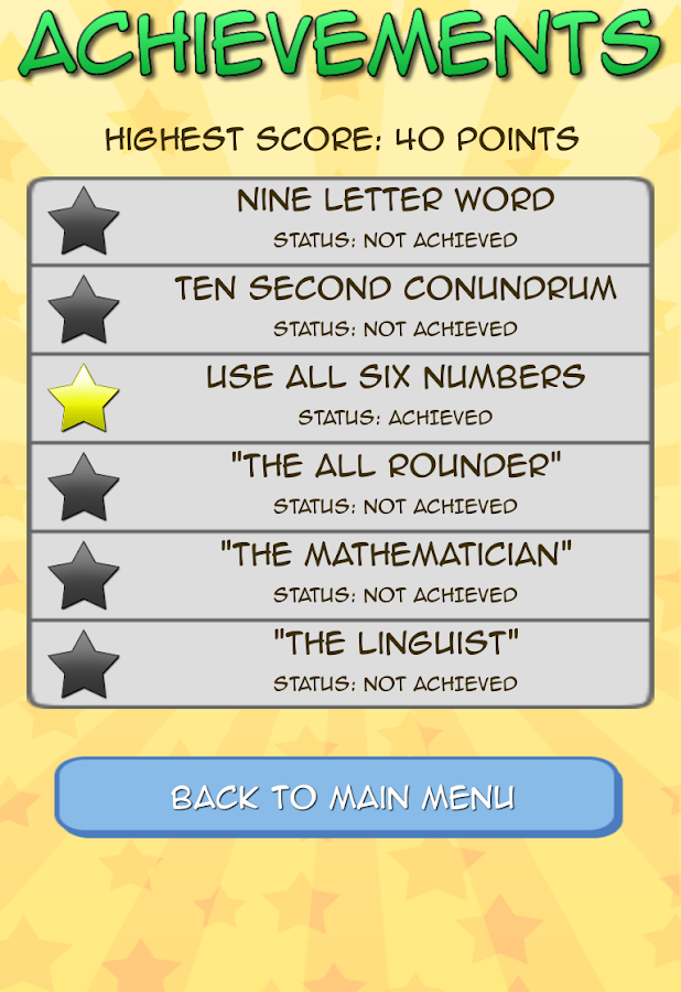 Letters and Numbers - screenshot