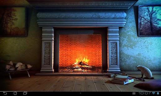 Fireplace 3D Pro lwp Screenshot