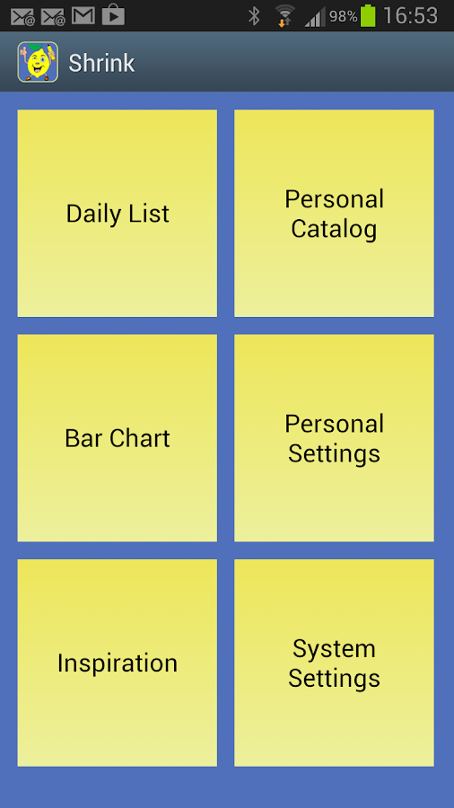 Shrink - Calories & Diet Diary- screenshot