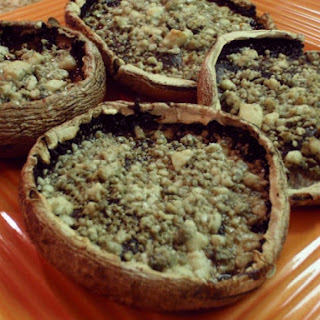 Roasted Portobello Mushrooms With Blue Cheese.