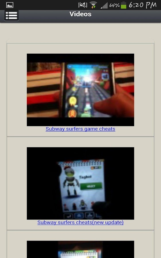 Download the Subway Surfers Cheats Android Apps On