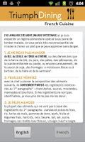 Screenshot of Gluten Free French