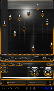 Poweramp skin Orange Glow v3.02