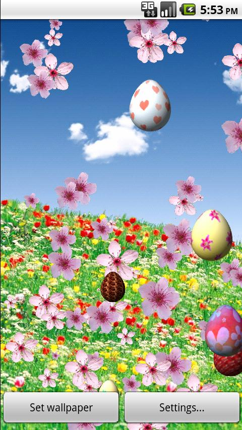 Easter in Bloom LiveWallpaperL - screenshot