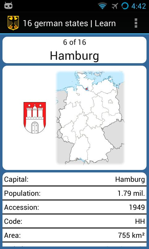 16 german states - screenshot