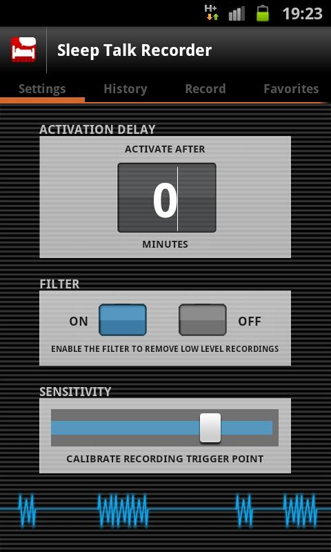 Sleep Talk Recorder - screenshot
