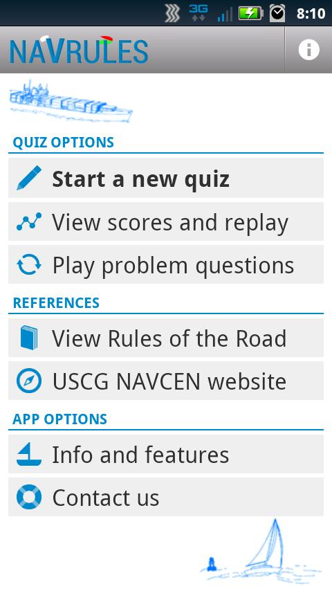 NAVRULES Quiz- screenshot