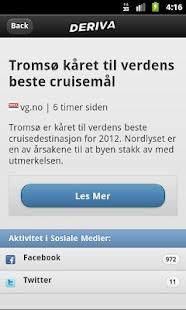 Deriva Nyheter - screenshot thumbnail