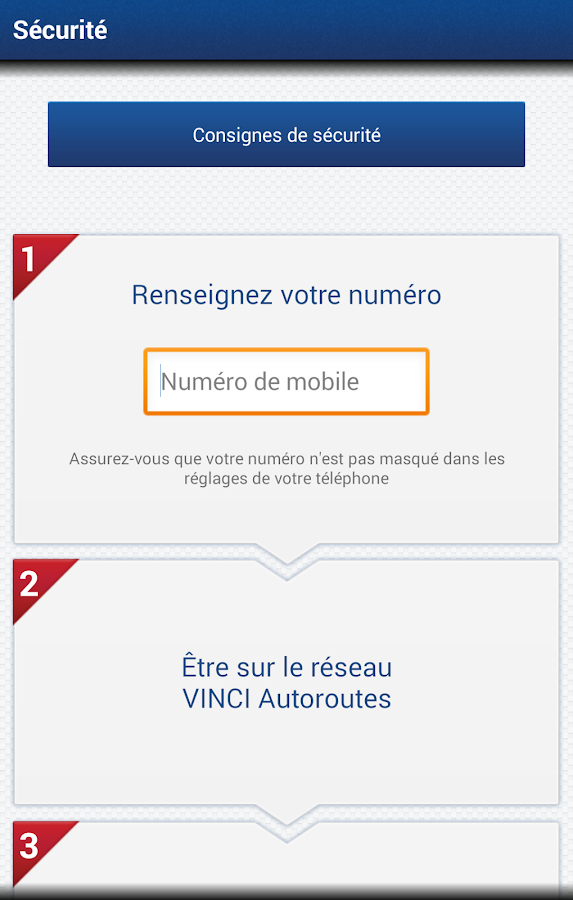 VINCI Autoroutes - screenshot