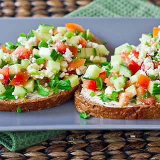 Open Faced Veggie Sandwiches.