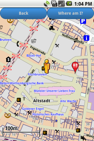 Freiburg Amenities Map free