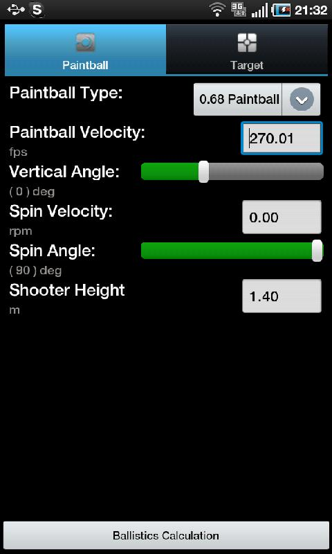 Paintball Ballistics- screenshot