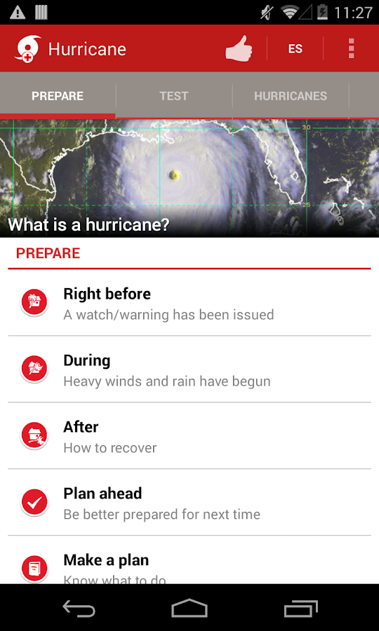 Hurricane - American Red Cross - screenshot