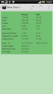 Weight Loss Tracker- screenshot thumbnail