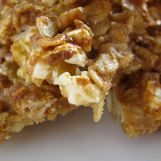 Peanut Butter Popcorn Granola Bites.