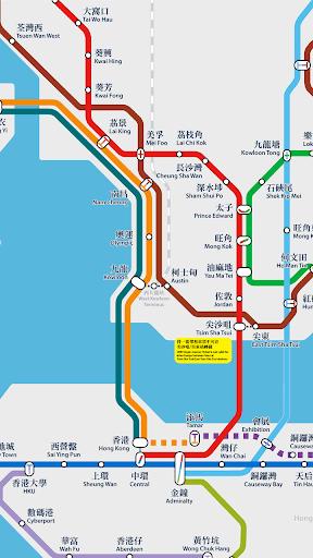 【免費交通運輸App】MTR Map-APP點子