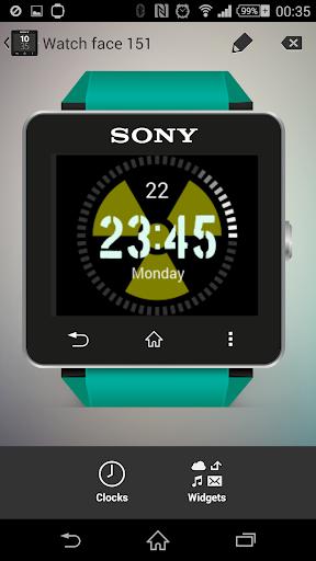 Radioactive Clock widgets SW2