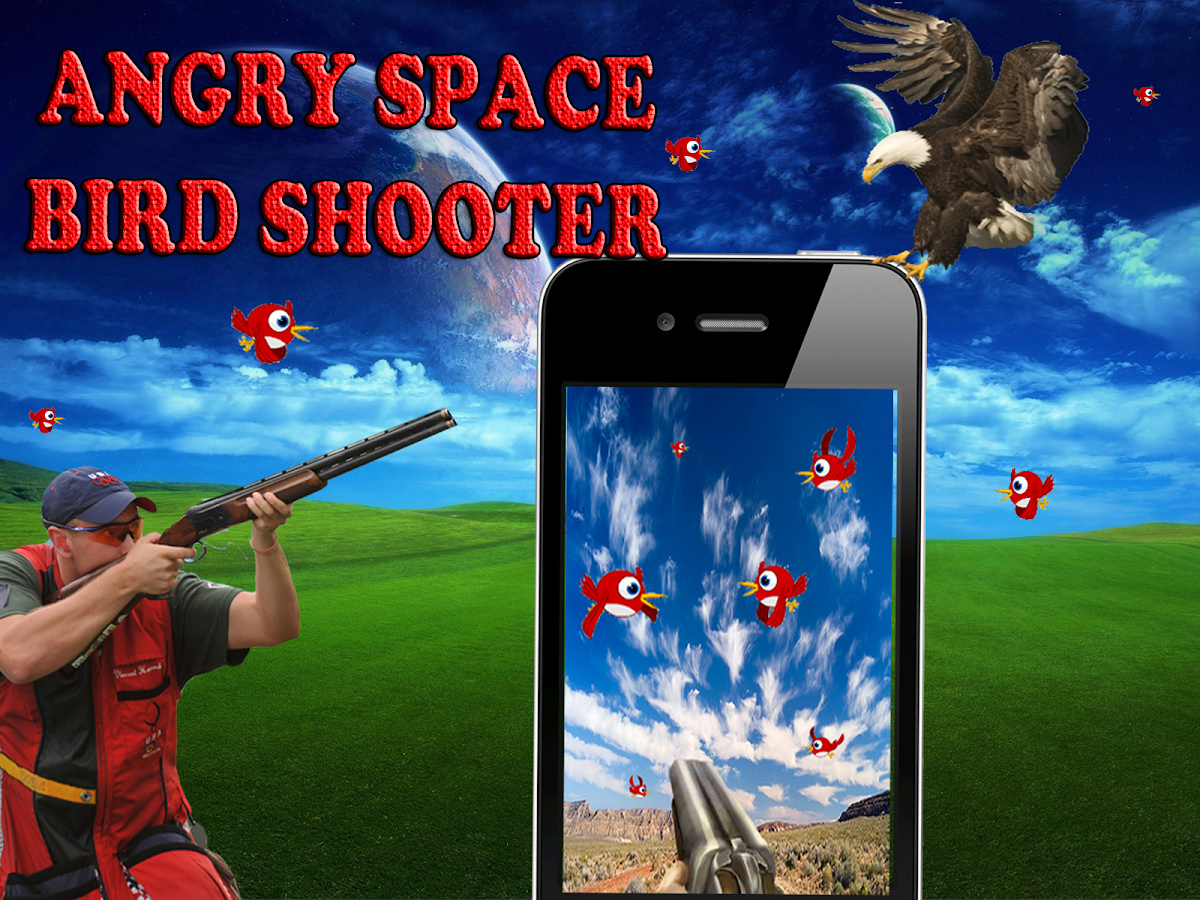 Angry space bird shooter - screenshot