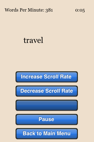Speed Reading Trainer - screenshot