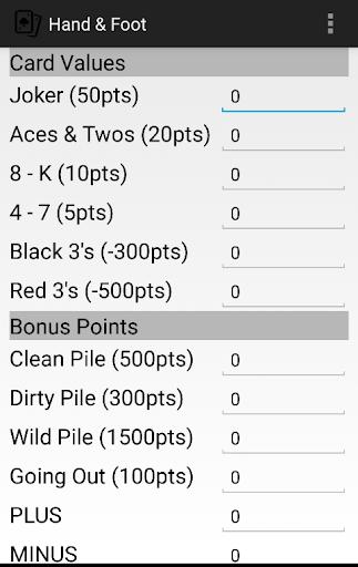 【免費紙牌App】Hand & Foot Score Card-APP點子