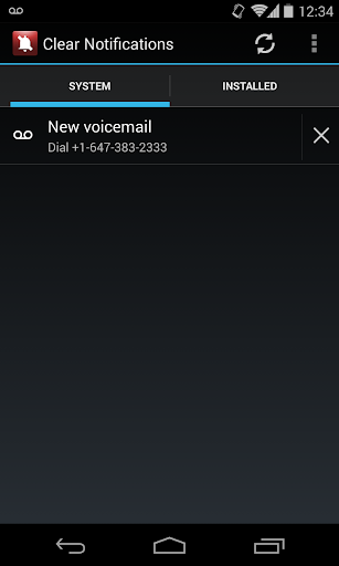 Clear Voicemail Notifications