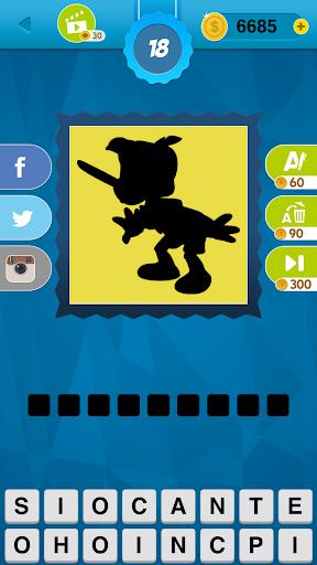 Shadow Quiz Game - Cartoons Screenshot