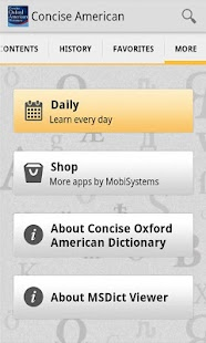 Concise Oxford American Dict - screenshot thumbnail