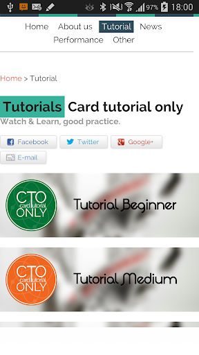 Card Tutorial Only