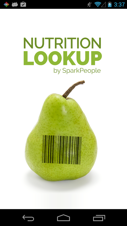 Nutrition Lookup - SparkPeople- screenshot
