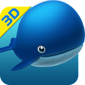 Little Whale 3D Wallpaper