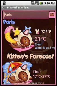 Kitten  Weather Widget screenshot 3